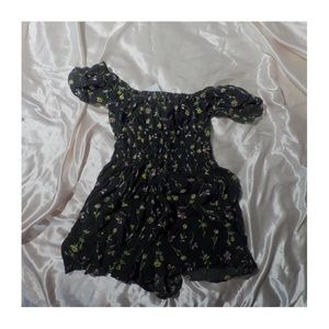 nwt urban outfitters blue floral romper